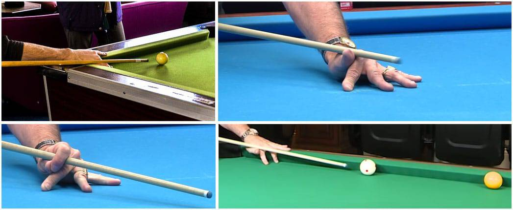 how to hold a pool cue