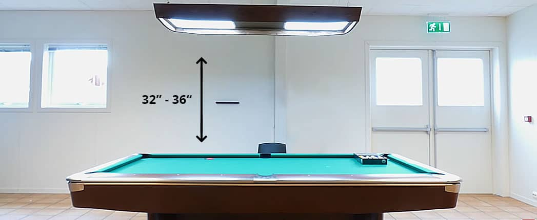 Perfect Height of Pool Table light
