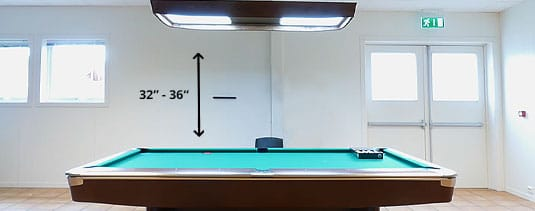 Brilliant The Perfect Height Distance Of Lights From The Pool Table Home Interior And Landscaping Spoatsignezvosmurscom