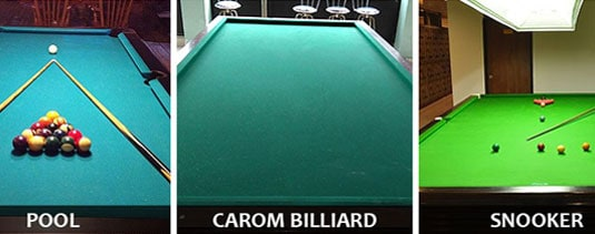 Pool vs Carom vs Snooker