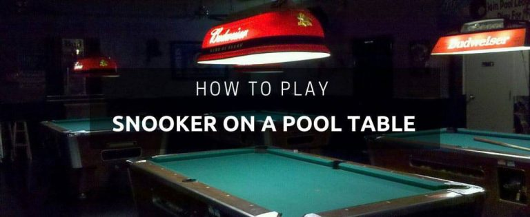 How to Play Snooker on a Pool Table