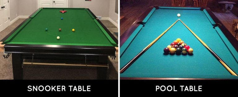 Pool Table VS Snooker Table