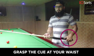 Grasp the Cue at Your Waist