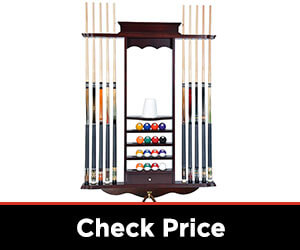 10 Billiard Sticks and Ball Wooden wall rack
