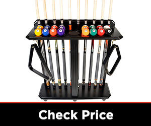 10 Pool/Snooker cue and pool ball rack