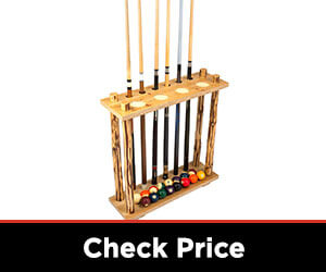 6 Billiards cue storage rack