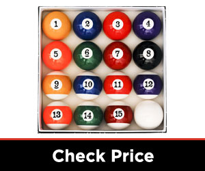 Pool Table Ball Set, Art Number Style